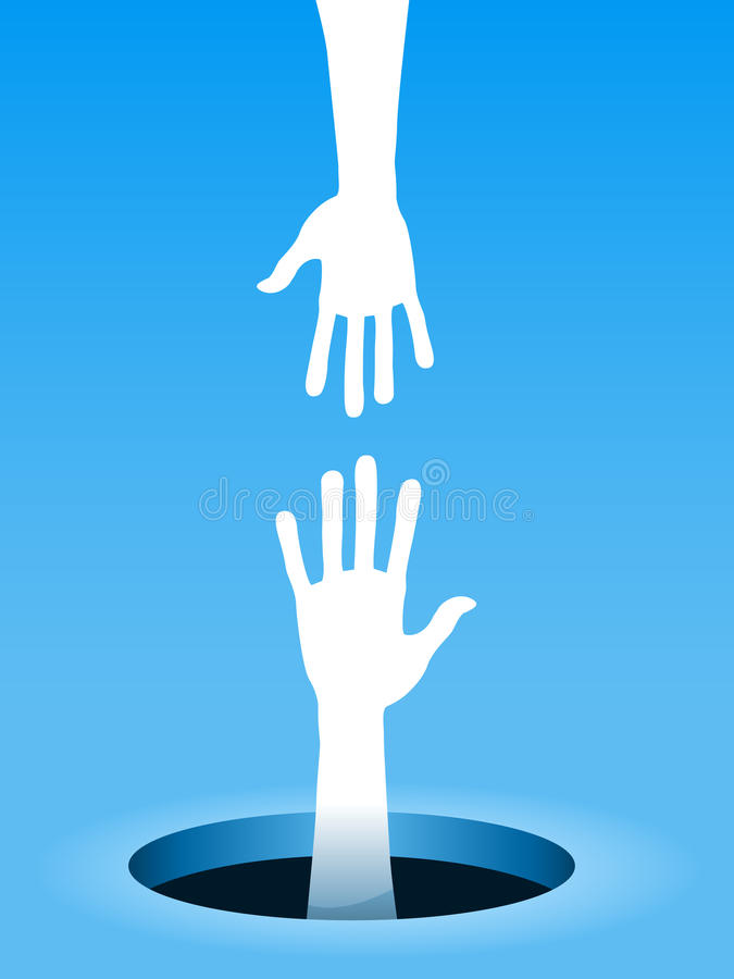 Het helpen van hand royalty-vrije illustratie