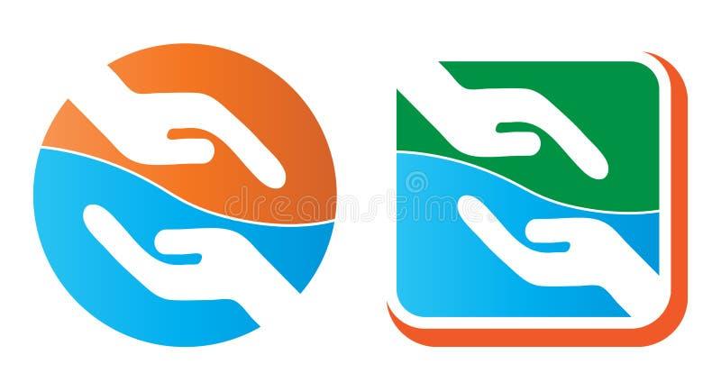 Het helpen van hand vector illustratie