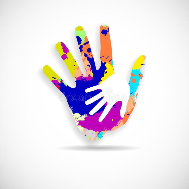 Het helpen van handen vector illustratie
