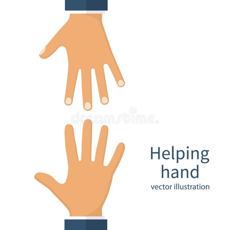 Het helpen van handenconcept stock illustratie