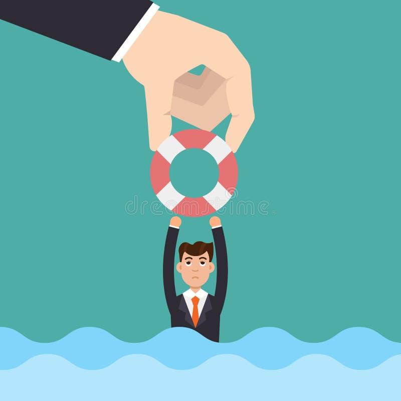 Het helpen van Zaken Het Concept van de investering stock illustratie