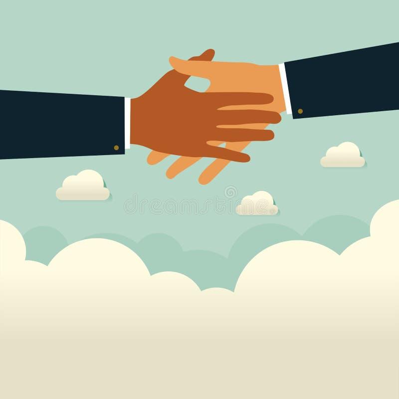Het helpen van zaken te overleven Bedrijfshulp, steun, overleving, investeringsconcept royalty-vrije illustratie