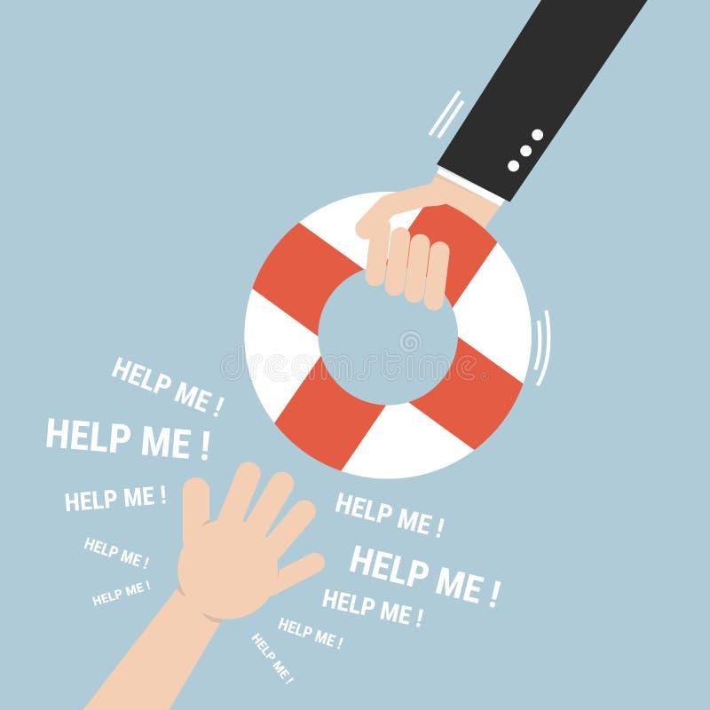 Het helpen van zaken te overleven Het concept van de hulp vector illustratie