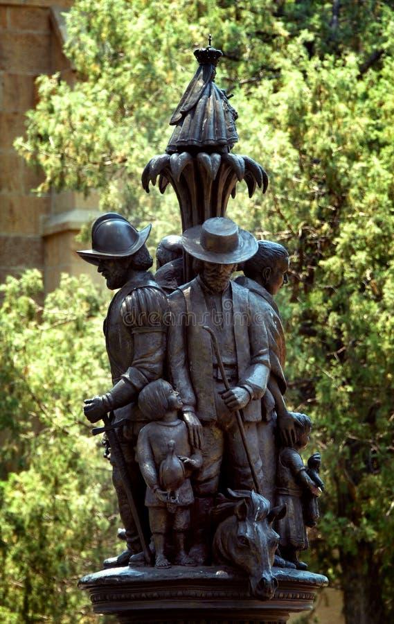 Het herdenken Kolonisatie van New Mexico stock afbeeldingen