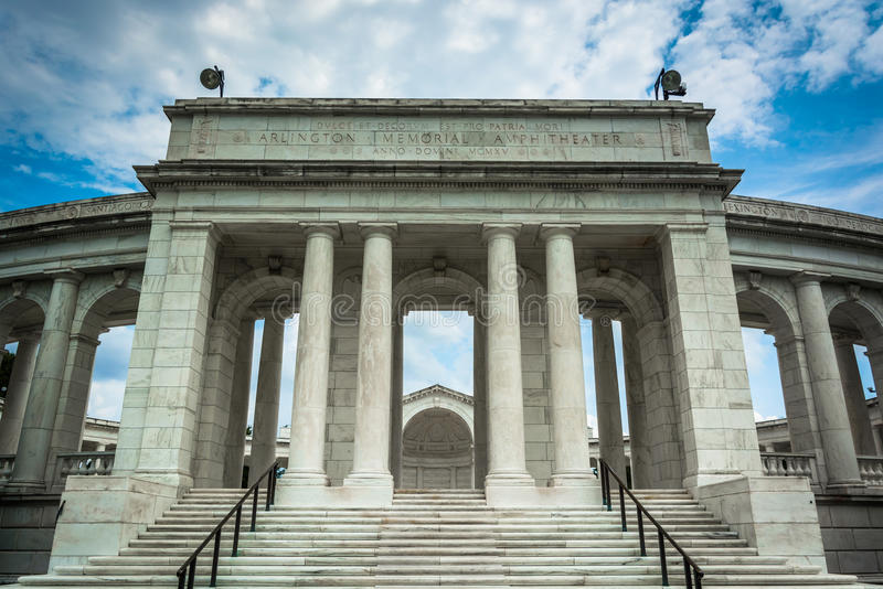 Het Herdenkingsamfitheater van Arlington in Arlington Nationale Cemete royalty-vrije stock foto