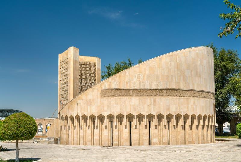 Het Herdenkingscomplex van Imam al-Bukhari in Boukhara, Oezbekistan stock fotografie
