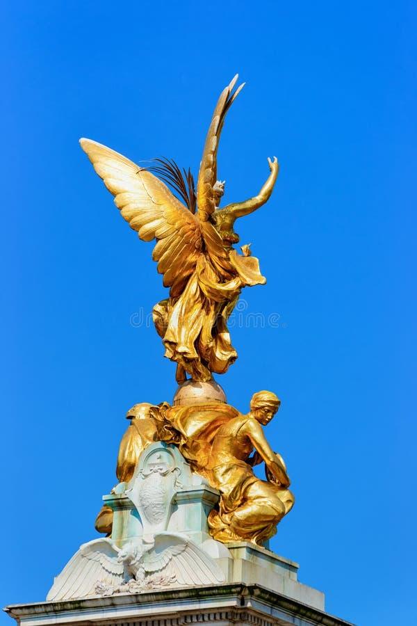 Het herdenkingsmonument van Victoria in Stad van Westminster in Londen stock foto