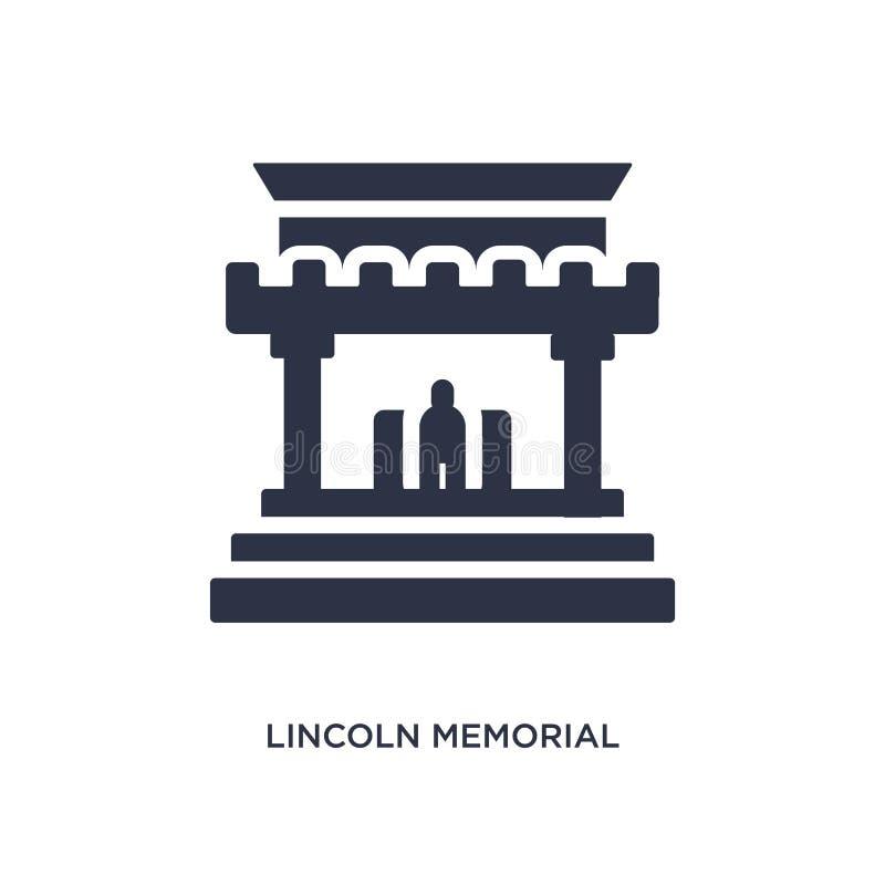 het herdenkingspictogram van Lincoln op witte achtergrond Eenvoudige elementenillustratie van Gebouwenconcept vector illustratie