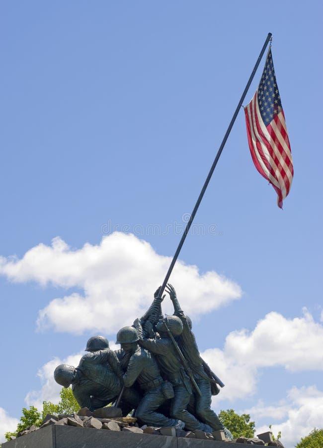 Het HerdenkingsStandbeeld van Jima van Iwo stock afbeeldingen