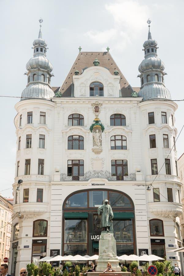 Het herdenkingsstandbeeld van Johannes Gutenberg - Wenen royalty-vrije stock afbeelding