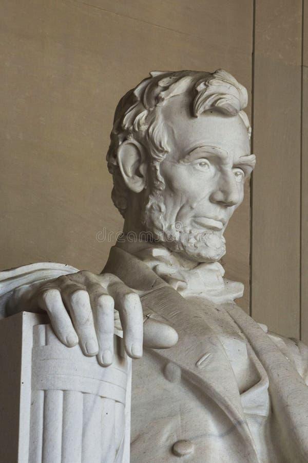Het herdenkingsstandbeeld van Lincoln stock afbeelding