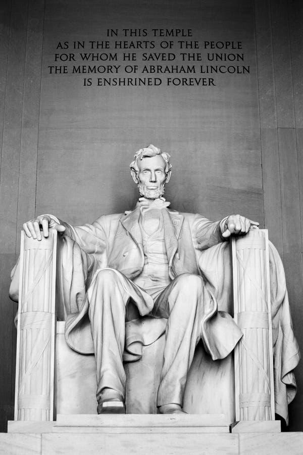 Het HerdenkingsWashington DC van Abraham Lincoln stock afbeeldingen