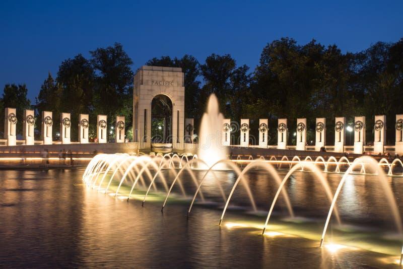 Het HerdenkingsWashington DC van de Wereldoorlog II stock foto's