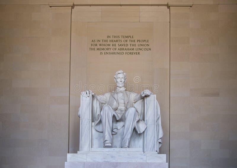Het herdenkingsWashington DC van Lincoln stock afbeelding