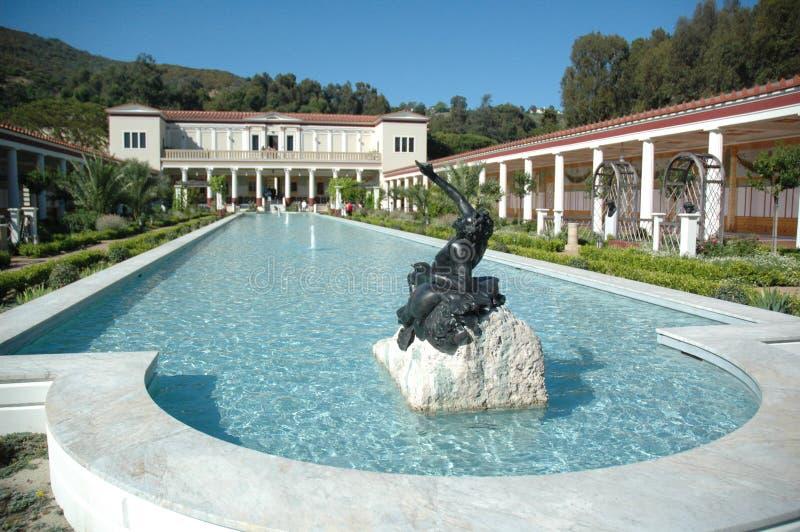 Het Herenhuis van de Villa van Getty stock foto