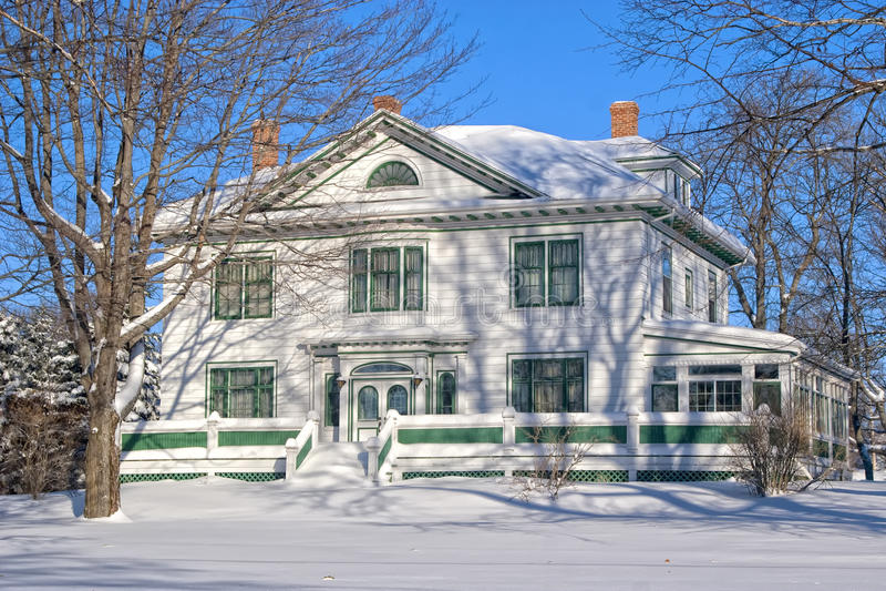 Het Herenhuis van de winter stock fotografie