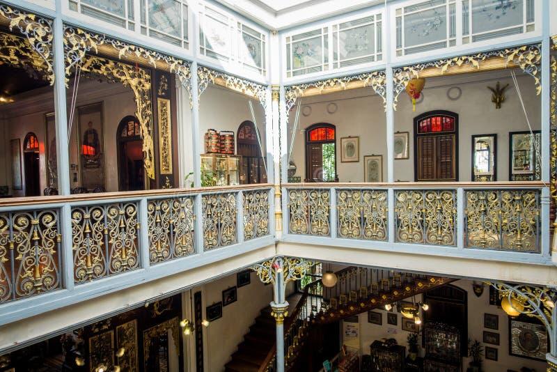 Het Herenhuis van Pinangperanakan, museum Peranakans-douane demonstreren, binnenlandse ontwerp en levensstijlen, Maleisië die royalty-vrije stock fotografie