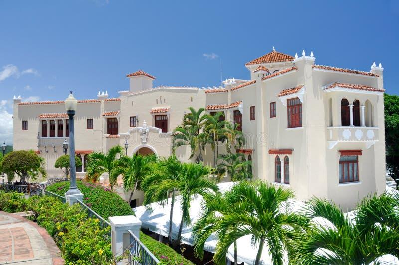 Het Herenhuis van Serralles van Castillo in Ponce (Puerto Rico) royalty-vrije stock fotografie