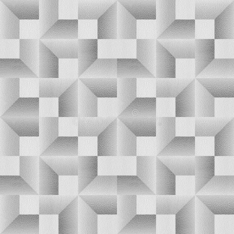 Het herhalen van abstracte geometrische tegels - het Moderne grafische ontwerp - wit-blauw naadloze patronen royalty-vrije stock foto