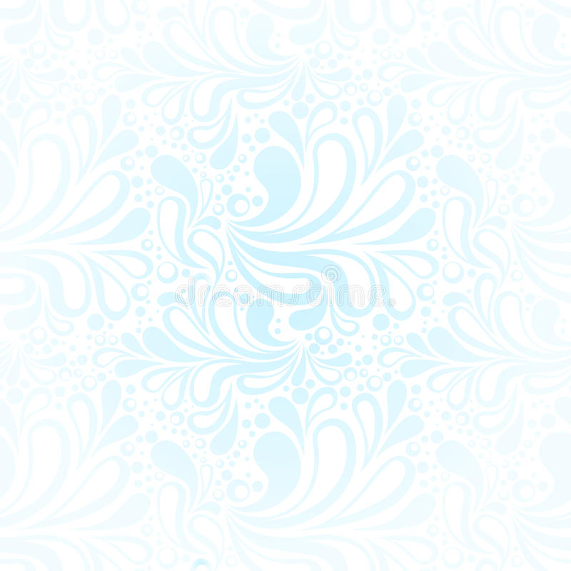 Het herhalen van het naadloze patroon van de de wintervorst royalty-vrije illustratie