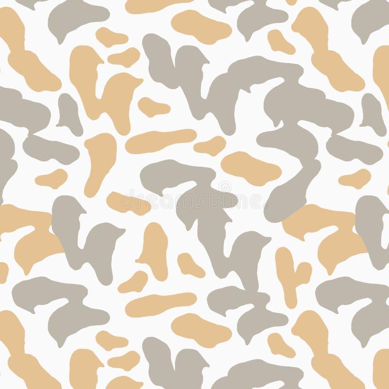 Het herhalen van patroon Neutrale gedempte kleuren Dierlijke druk stock illustratie