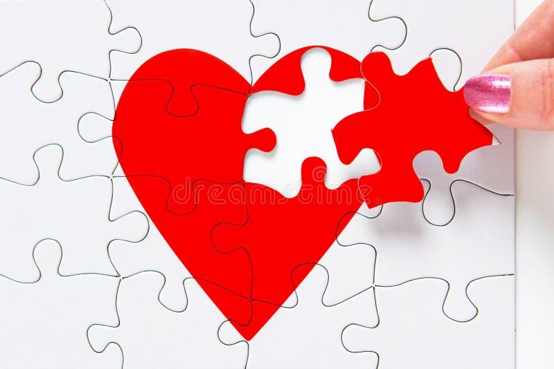 Het herstellen van een gebroken hart royalty-vrije stock foto