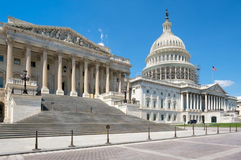 Het het Capitoolgebouw van de V.S. in Washington D C stock afbeelding