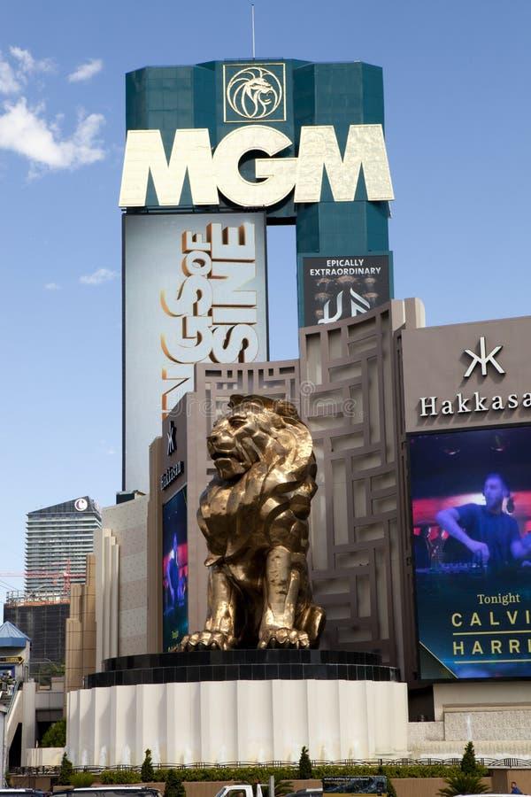 Het het Grote Las Vegas Casino en Hotel van MGM in Las Vegas, Nevada stock afbeeldingen