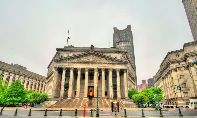 Het het Hooggerechtshofgebouw van de Staat van New York royalty-vrije stock foto