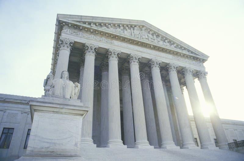 Het het Hooggerechtshofgebouw van Verenigde Staten, Washington, D C stock afbeelding