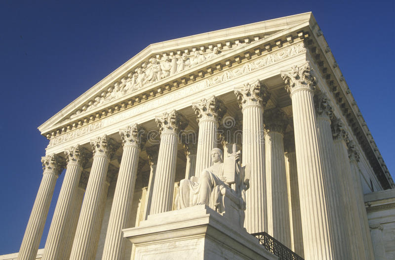 Het het Hooggerechtshofgebouw van Verenigde Staten, Washington, D C royalty-vrije stock afbeelding