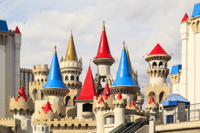 Het het Hotel en Casino van Excalibur - Las-vegas stock afbeeldingen