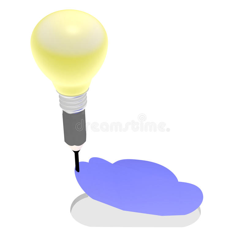 Het in het leven roepen van de wolkendienst De gevouwen wolk wordt gesneden van het document vector illustratie