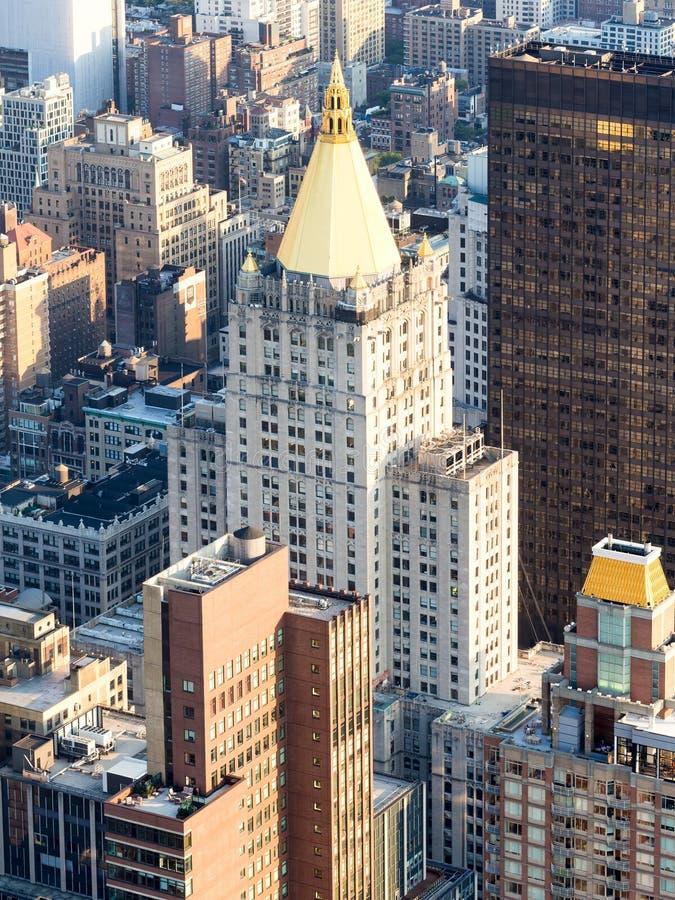 Het het Levensgebouw van New York in New York stock afbeeldingen