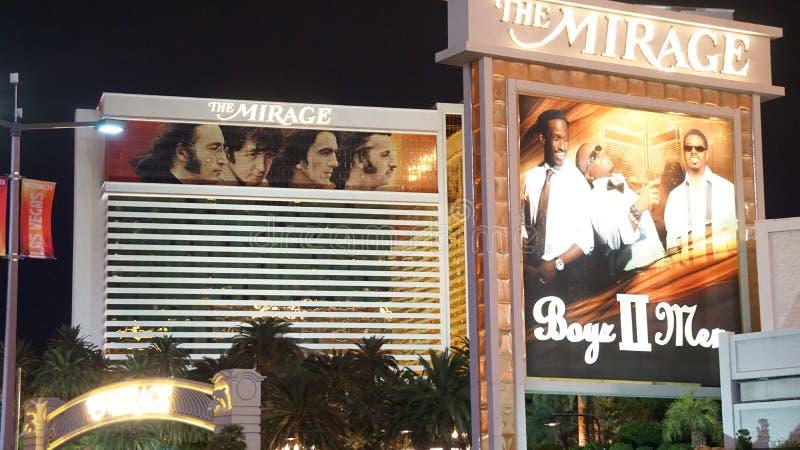 Het het Luchtspiegelinghotel en Casino in Las Vegas stock foto's