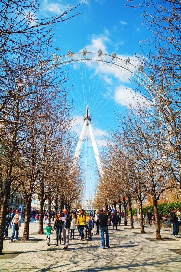 Het het Oogreuzenrad van Londen royalty-vrije stock foto