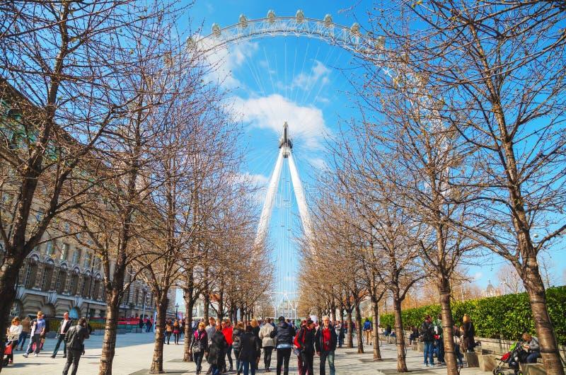 Het het Oogreuzenrad van Londen stock afbeelding