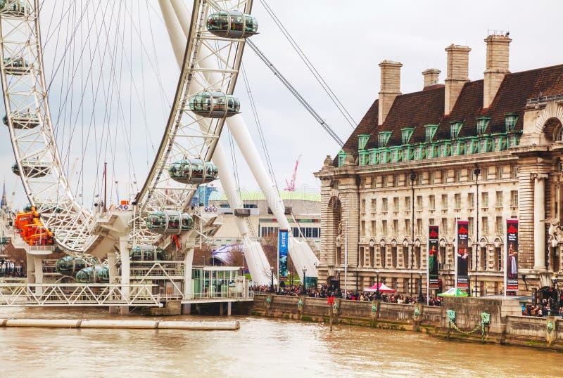 Het het Oogreuzenrad van Londen in Londen, het UK stock fotografie