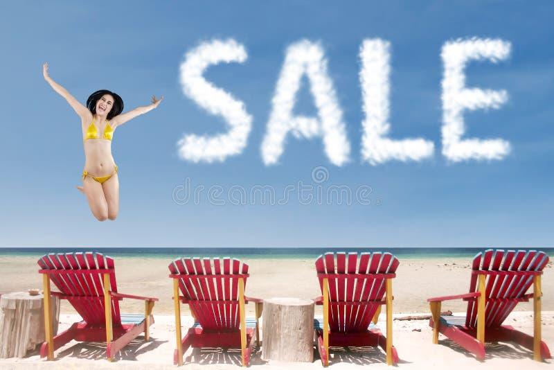Het hete concept van de de zomerverkoop royalty-vrije stock foto's