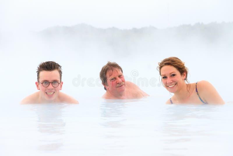 Het hete de lente van IJsland ontspannen royalty-vrije stock afbeeldingen