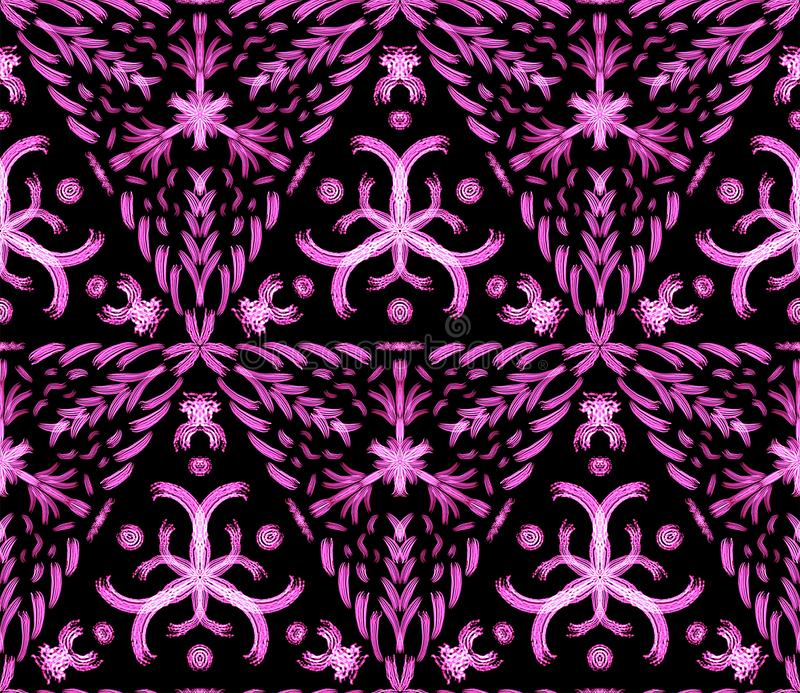 Het hete gloeiende patroon van het gevaarconcept vector illustratie