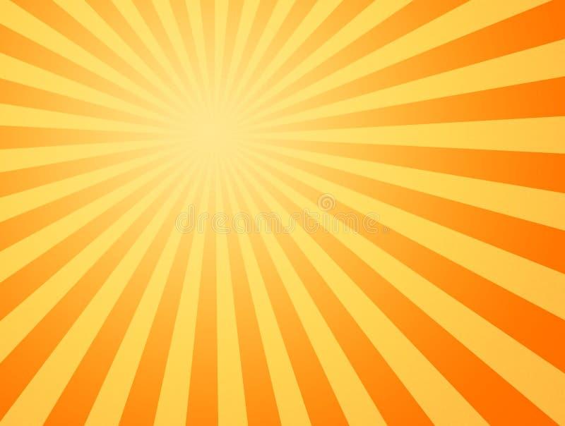 Het hete zonzonnestralen glanzen royalty-vrije illustratie