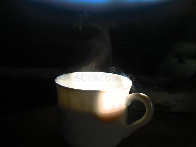 Het hete zwarte Ontbijt van de koffiekop royalty-vrije stock fotografie