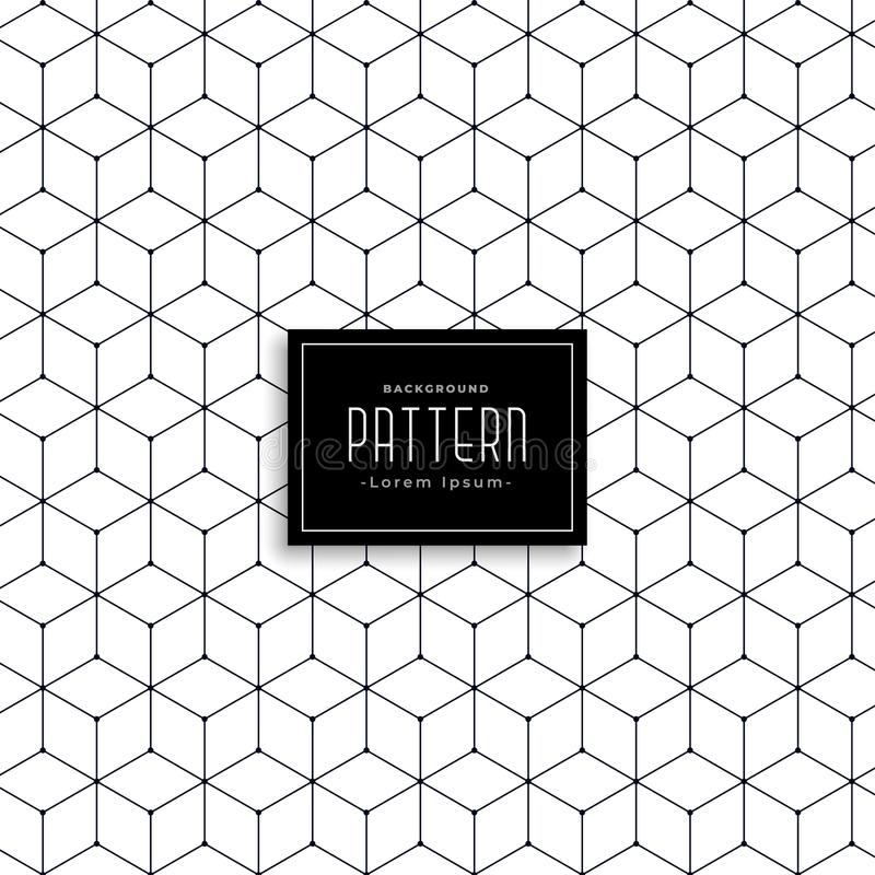 Het hexagonale geometrische ontwerp van het lijnpatroon royalty-vrije illustratie