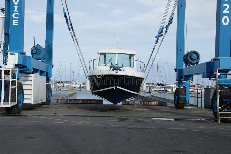 Het hijstoestel van de boot. royalty-vrije stock foto