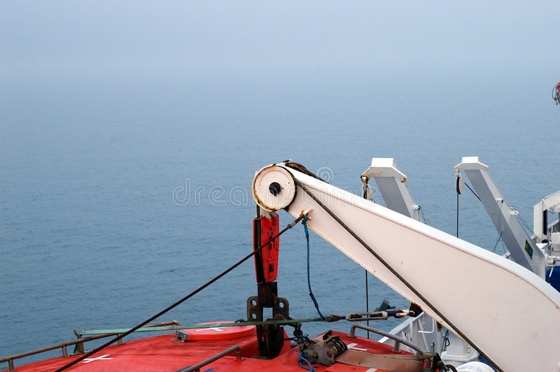 Het Hijstoestel van de reddingsboot stock afbeeldingen