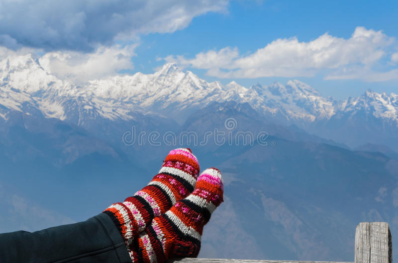 Het Himalayagebergte royalty-vrije stock foto