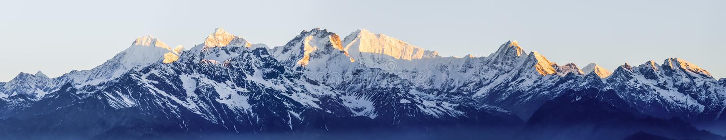Het Himalayagebergte stock fotografie