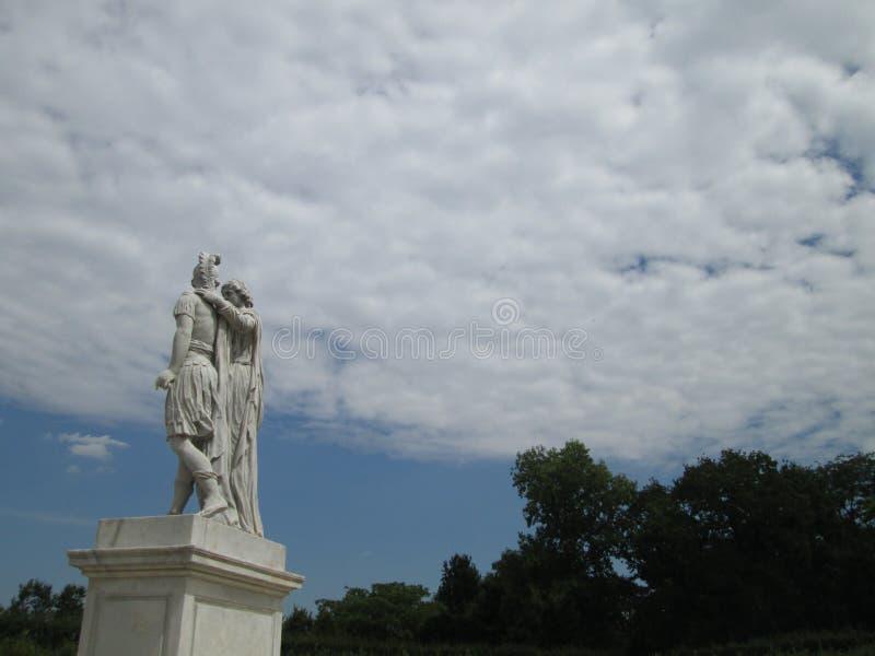 Het historische beeldhouwwerk in Wenen stock afbeelding
