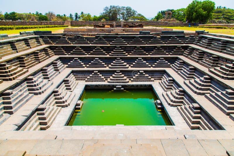 Het historische biulding in Hampi, India stock afbeeldingen